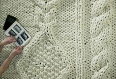 Cozy cable knit rug. I'd spend every day on the floor if I had this