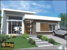 fachada de casa terrea 300 m - Pesquisa Google Facade Architecture, Beautiful Architecture, Contemporary Architecture, Modern Exterior, Exterior Design, House Front, My House, Duplex House Design, Modern Bungalow