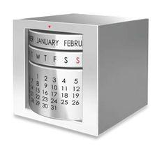 Perpetual Calendar Cube $49