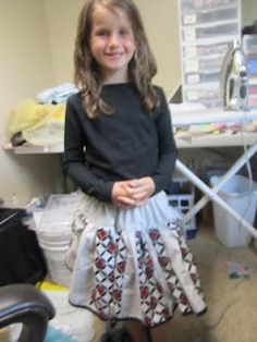 """How To Make a Girl's Twirly """"Strip Skirt"""""""