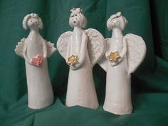 Engel Home Decor, Secret Santa, Santa Clause, Work Shop Garage, Angel, Creative, Hand Crafts, Clay, Breien