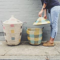 Our new #storagebaskets are beyond. I can't even. #olliella #geobasket