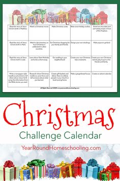 Spend quality time together with your family this Christmas season and make lifelong memories using this Christmas Challenge. #ChristmasChallenge #Christmas #Printable #Homeschool #Homeschooling #YearRoundHomeschooling