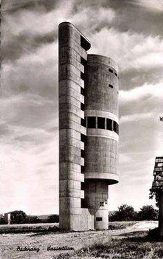 Water Tower (1959-61) in Backnang, Germany, by Helmut Erdle