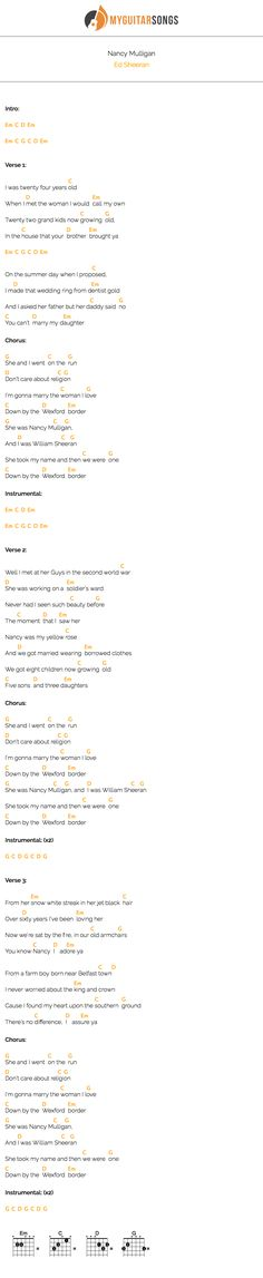 Nancy Mulligan by Ed Sheeran