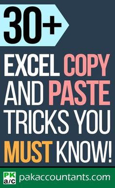 30+ Copy & Paste Tricks You Must Know – Mouse Keyboard Autofill Paste Special and More! Free Excel tutorials, tips, tricks, downloadable templates, dashboards, cheat sheets, workbooks and formula core book