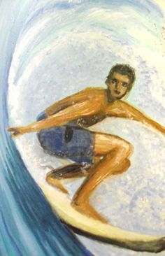 Surfer in the Wave Hand Made gifts For Him Holidays Art for Walls Surfing Eco Decor Drift Wood Art