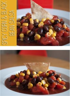 Easy Corn and Black Bean Salsa Recipe {plus how to make Homemade Tortilla Chips!}