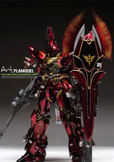 "Custom Build: MG 1/100 Sinanju ""Dark Gloss ver."" - Gundam Kits Collection News and Reviews"