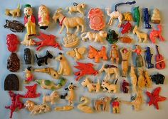 30's 40's VINTAGE CELLULOID as is CRACKER JACK GUMBALL CHARM LOT OF 50+   eBay
