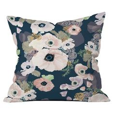Une Femme In Blue Throw Pillow DENY Designs : Target