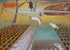 """Trabalho inspirado em a """"Desintegração da Persistência da Memória"""" de Dalí - (7ª etapa) (18/1/2017)"""
