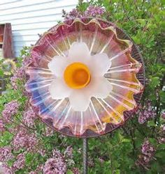 Colorful Glass Garden Yard Art Outdoor Decor UpCycled by jarmfarm, $70 ...