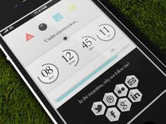 Blog_countdown - Mobile interface UI UX