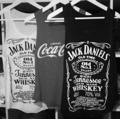Jack daniels tanks. For my Kesha costume
