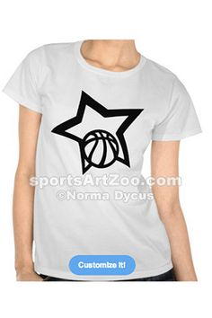 Basketball Star Shirt by Sports Art Zoo