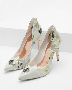 Pointed leather court shoes - Ash | Shoes | Ted Baker