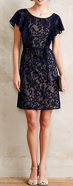 Gorgeous fluttered scrollwork dress #anthrofave http://rstyle.me/n/szn3znyg6