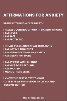Healing Affirmations, Positive Affirmations Quotes, Self Love Affirmations, Affirmation Quotes, Anxiety Quotes, Mantras For Anxiety, Meditation For Anxiety, Anxiety Help, Mindfulness Meditation