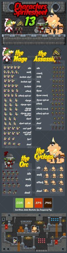 Characters Spritesheet 13 Download here: https://graphicriver.net/item/characters-spritesheet-13/7346771?ref=KlitVogli
