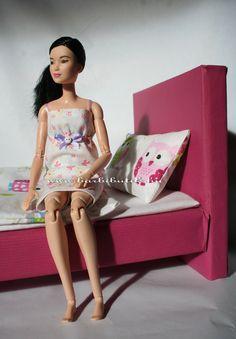 Barbie ágy készítés, DIY / Barbie bed DIY