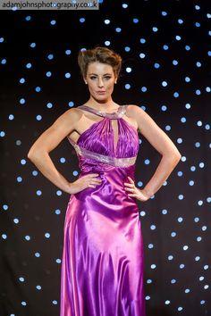 Satin magenta eveneing dress from Jora collection..... #fashionshow #eveningdress #magenta #model #girl #runway #joracollection