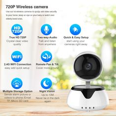 LOOSAFE Wireless Home Security Baby Monitor 2 way audio smart with alarm Network Wireless Wi-fi Night Vision CCTV Camera Cctv Camera Price, Camera Prices, Wireless Camera, Bluetooth, Video Security, Wireless Home Security, Baby Monitor, Night Vision, Mobiles