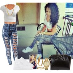 A fashion look from March 2014 featuring wet seal t shirts, high rise skinny jeans and multi way push up bra. Browse and shop related looks.