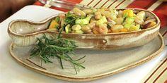 Salada fria de feijão branco