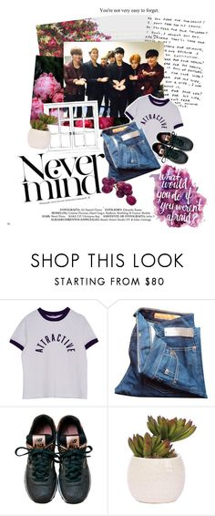 """""""49. nevermind. // BTS"""" by mingyv ❤ liked on Polyvore featuring Prada, J.Crew, New Balance, Lux-Art Silks, women's clothing, women, female, woman, misses and juniors"""