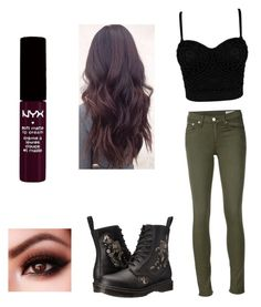 """""""Untitled #324"""" by laurel8760 on Polyvore featuring Dr. Martens, rag & bone/JEAN and NYX"""