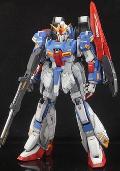 GUNDAM GUY: PG 1/60 MSZ-006 Zeta Gundam Ver.1.0 - Customized Build Perfect Grade, Zeta Gundam, Gunpla Custom, Gundam Model, Mobile Suit, Transformers, Iron Man, Guys, Anime