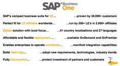 SAP Business One: Key Facts. Designed for Growing Companies