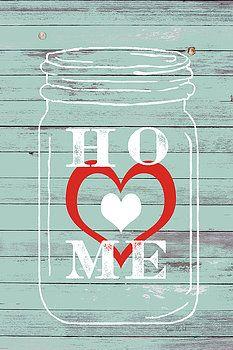 Home Mason Jar by Ramona Murdock