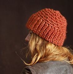 Nº230 Chunky Skullcap Beanie Crochet PATTERN by MilaSova on Etsy