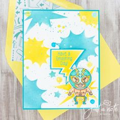 This set uses the Travel to Mexico set and You're Super stencil by Kindred Stamps. This project is part of the Spring Celebrations- Cinco De Mayo Blog Hop! Check out my blog for more details!
