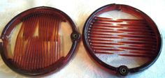 Vintage Two Dark Faux Tortoise Shell Round Hair Combs Estate   eBay