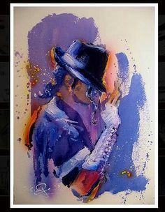 Art with Soul - Colors - The King of Pop, Rock and Soul! Nate Giorgio painting of MJ