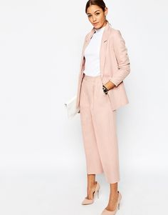 Blush Suit with culottes Culottes for a spring work outfit