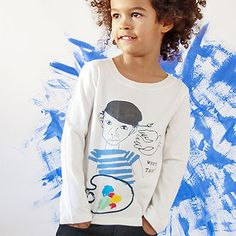 Long Sleeve T Shirt with Picasso Print by Nadadelazos - Junior Edition www.junioredition.com