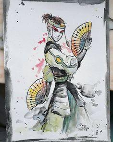 Sokka dressed in his Kyoshi warrior attire. Avatar Aang, Avatar Airbender, Team Avatar, Kyoshi Warrior, Anime Warrior, Legend Of Aang, Avatar Series, Fanart, Zuko