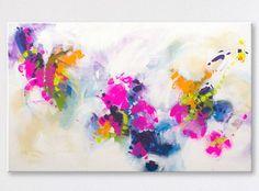 Abstract painting by Svetlansa #svetlansa #homedecor #largepainting #largeart #abstractpainting #pinkart #pinkpainting #wallart #artwork #white #blue #etsy #bestofetsy