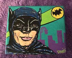Custom Hand Painted Cigar Box Art, Batman TV Series, Adam West, Fine Art, Cigar Box Art, Recycled, Stash Box, Cigar Box by TimothyDaviesArt on Etsy