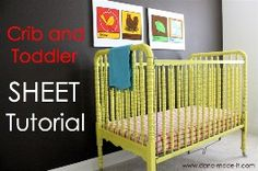 How to Make a Fitted Sheet for Crib or Toddler Bed