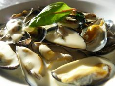Page Not Found - iodé magazine Seafood Recipes, Cooking Recipes, Le Diner, Mussels, I Love Food, Tapas, Panna Cotta, Pudding, Dulce De Leche