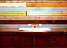 Mixed Reclaimed Beadboard | There is no end to what you can with beadboard, and it comes in a variety of colors. We carry green, red, pink, blue, white, beige and natural (brown). It's great wall covering, wainscoting and for making furniture. See our selection at http://storiedsalvage.com/collections/reclaimed-beadboard or call us at (601)559-4792. We ship Nationwide.