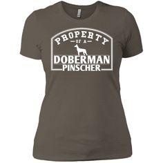 Doberman - Property Of A Doberman - Next Level Ladies' Boyfriend Tee