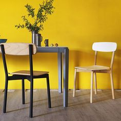 """Seat that recalls the most classic """"trattoria"""" chairs, revised in detail and proportions to make it ironic and perfect. Salable only in multiples of 2 for each color. 
