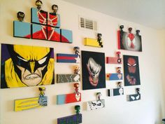 Um okay. I love this set up. A painting with the corresponding POP on top. Perfect for my Marvel room!