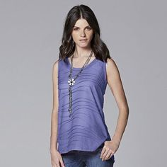 Simply Vera Vera Wang Windy Jacquard Tank - Women's